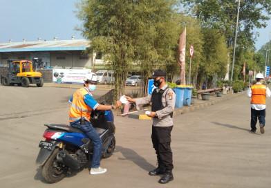 Polsek Kp Banten Polres Cilegon Laksanakan Kegiatan Pendisiplinan Protokol Kesehatan dan Berbagi Masker Gratis