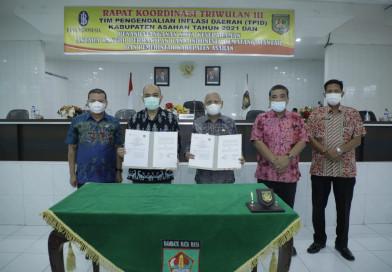 Bupati Asahan Buka Rapat Koordinasi Triwulan III TPID Kabupaten Asahan Tahun 2021